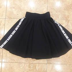 """Очень красивая  школьная юбка для девочки """"Буквы клеш"""""""