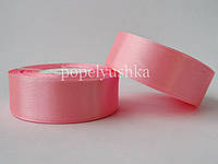 Лента атласна 2,5см рожева