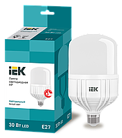 Лампа светодиодная HP 30Вт 230В 4000К E27 ІЕК [LLE-HP-30-230-40-E27] ИЕК