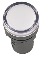 Лампа AD16DS(LED)матрица d=16мм белый 12В AC/DC ІЕК [BLS10-ADDS-012-K01-16] ИЕК
