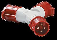 Адаптер двухлучевой ССИ-1012-214 3Р+РЕ 16А 380-415В IP44 ІЕК [PAS22-016-4] ИЕК