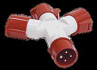 Адаптер трипроменевий ССІ-1013-214 3Р + РЕ 16А 380-415В IP44 ІЕК [PAS32-016-4]