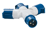 Адаптер трипроменевий ССІ-1013 2Р + РЕ 16А 200-250В IP44 ІЕК [PAS31-016-3]
