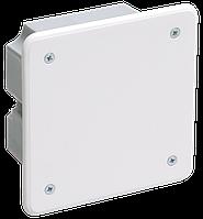 Коробка распаячная КМ41021 92х92x45мм для полых стен (с саморезами, металлические лапки, с крышкой) ІЕК [UKG11-092-092-040-M] ИЕК