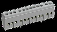 """Шина L """"фаза"""" в корпусному ізоляторі на DIN-рейку ШНИ-6х9-12-К-Ср ІЕК [YNN10-69-12KD-K02]"""