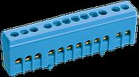 """Шина N """"нуль"""" в корпусному ізоляторі на DIN-рейку ШНИ-6х9-12-К-з ІЕК [YNN10-69-12KD-K07]"""
