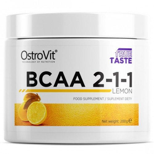 BCAA Аминокислоты OstroVit Extra Pure BCAA 2:1:1 (pure, orange, lemon)  (200 g)