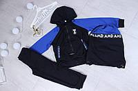 Спортивный костюм детский для мальчика с сумкой от 3 до 8 лет, электрик