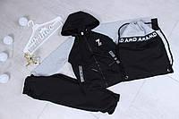 Спортивный костюм детский для мальчика с сумкой от 3 до 8 лет, серый