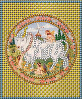 Схема для вышивки бисером Знаки зодиака. Золото Телец КМР 6019