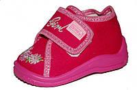 Детские ботиночки для девочки на липучке (Розовые, Girl)