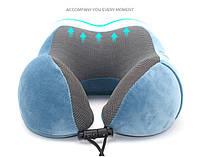 Подушка LSM для путешествий 30х28х14 темно синяя (195-2)