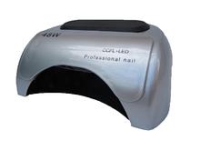 LED + CCFL лампа гібрид на 48 вт, для гель-лаків і для гелю з таймером 10, 30 і 60 сек срібло без коробки