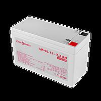 Аккумулятор гелевый LP-GL 12V - 7.2 Ah Silver