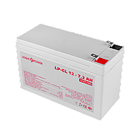 Акумулятор гелевий LogicPower LP-GL 12 - 7,2 AH SILVER, фото 1