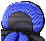 Безкаркасне Автокрісло для дітей від 2х років до 12 років синє, фото 5