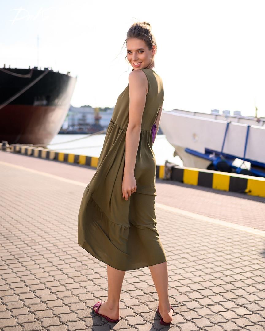 Платье женское короткое ассиметричное без рукавов (К28280)