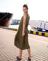 Платье женское короткое ассиметричное без рукавов (К28280), фото 1