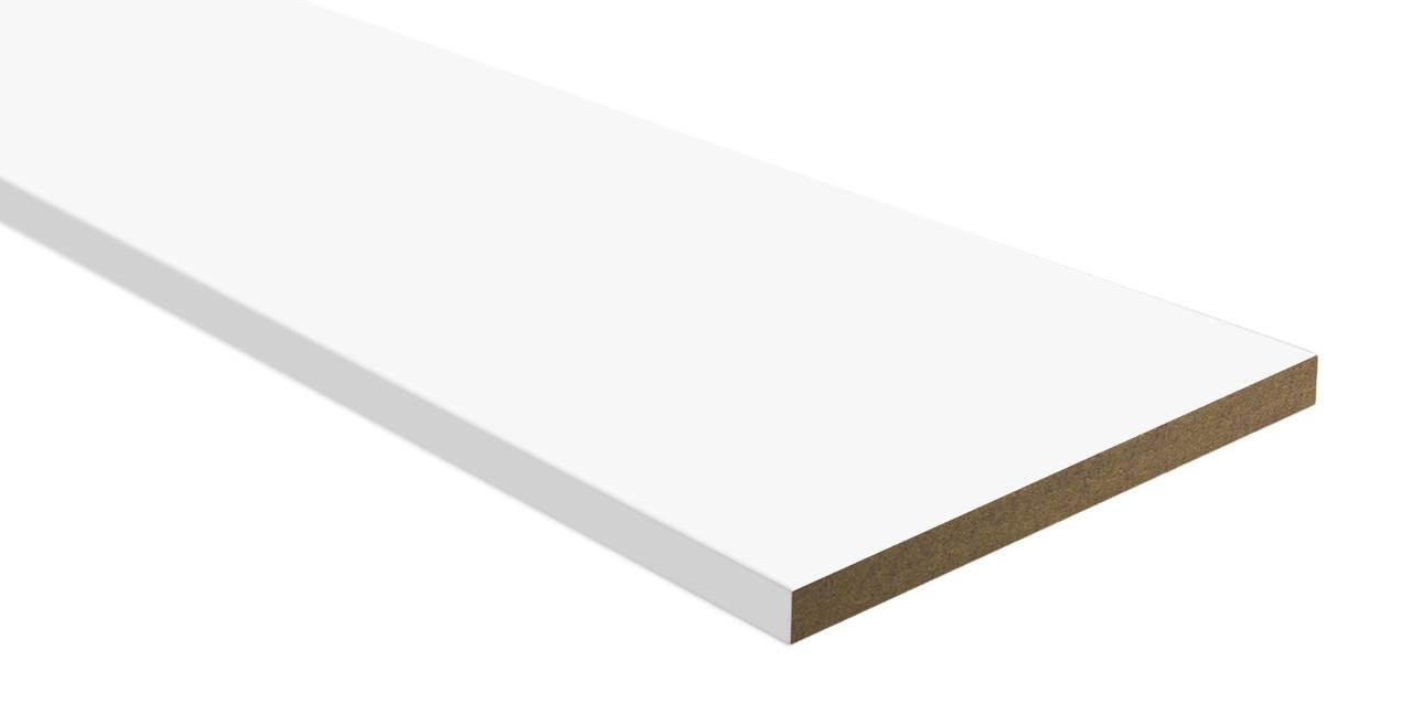 Додаткова дошка ПВХ білий матовий 100 мм довжина 2024 мм