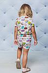 Летний детский спортивный костюм с шортиками Пончики, фото 3