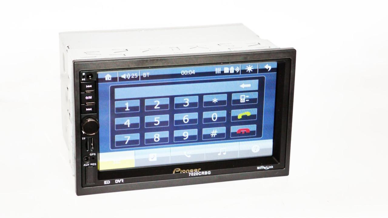 """Автомагнітола 2 дін 7020 CRBG з GPS 7"""" Екран Bluetooth пульт на кермо"""