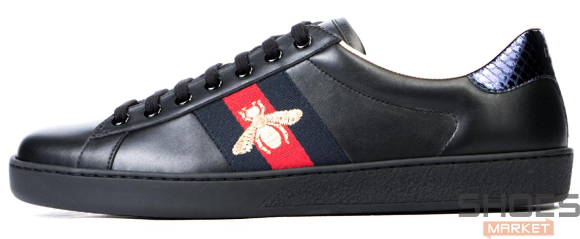 Мужские кроссовки Gucci Ace Embroidered 429446 A38G0 1284, Гуччи Эйс Емброидеред