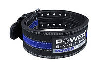 Пояс для пауэрлифтинга Power System Power Lifting PS-3800 L Black/Blue, фото 1