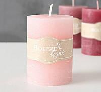 Свеча розовый воск h10см d7см 1008626