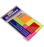 Блок бумаги для заметок Donau 38х51мм, Neon ассорти, 4 цвета по 50 шт