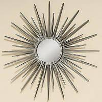 Настенный декор зеркало металл d75см 1008460