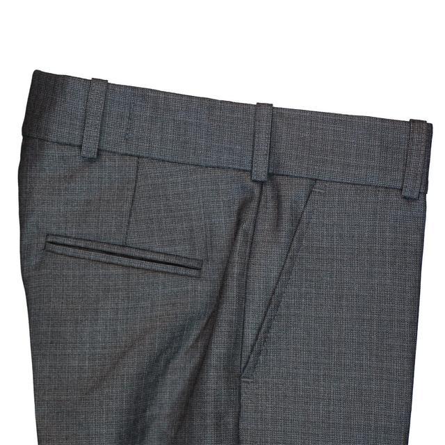 школьные брюки для мальчика серые в клетку