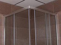Кабина душевая из стекла квадратная  SLIDING 800*800 мм
