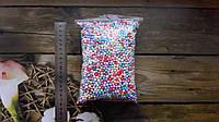 Шарики пенопластовые 4-6мм ассорти(разноцветные) для слаймов и декора.+Подарок