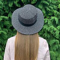 Женская шляпа канотье  чёрная