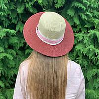 Женская шляпа канотье