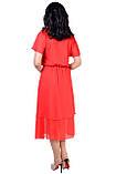 Летнее платье, фасона который идеально подчеркнет вашу женственность, четыре цвета, р.46,48,50,52 код 1958М, фото 5