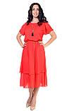 Летнее платье, фасона который идеально подчеркнет вашу женственность, четыре цвета, р.46,48,50,52 код 1958М, фото 4