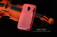 Силиконовый чехол Duotone для Motorola Moto G2 (XT1063 XT1068) розовый, фото 1