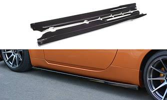 Боковые диффузоры порогов юбка элерон накладки тюнинг Nissan 350Z