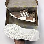Женские кроссовки Adidas NMD R1 Women коричневые. Живое фото (Реплика ААА+), фото 4