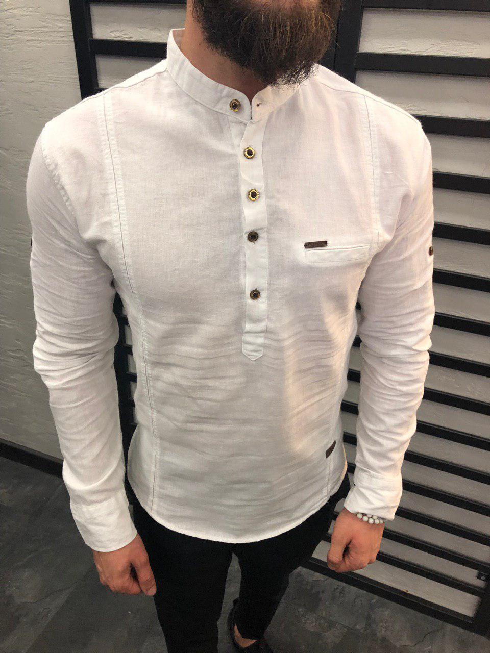 Мужская рубашка белая 6521