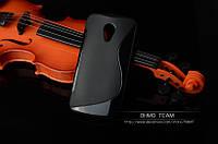 Силиконовый чехол Duotone для Motorola Moto G2 (XT1063 XT1068) чёрный, фото 1