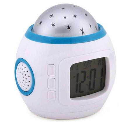 Часы UKC 1038 с будильником и проектором звездного неба (hub_oZrk68146), фото 2