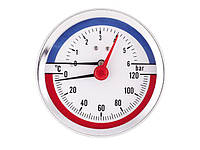 Термоманометр горизонтальний (бічний) XF346