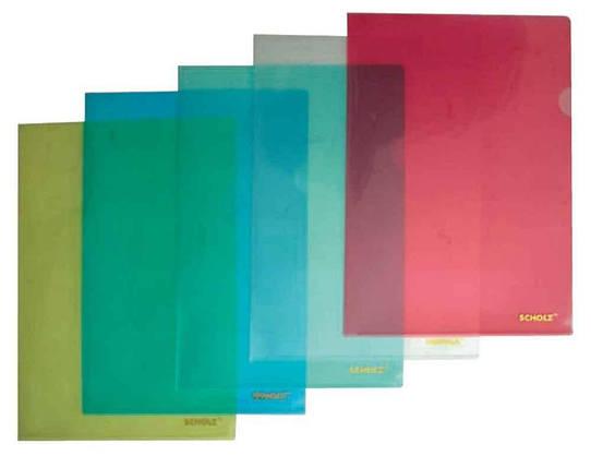 Папка-куток Scholz, 01310, А4, 180 мкн., червоний, фото 2