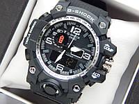Наручные часы Casio G-Shock GWG-1000 черные с серебристым, красная стрелка