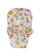 Чехол к стульчику для кормления Capella Piero Fabula цветы на молочном, фото 1
