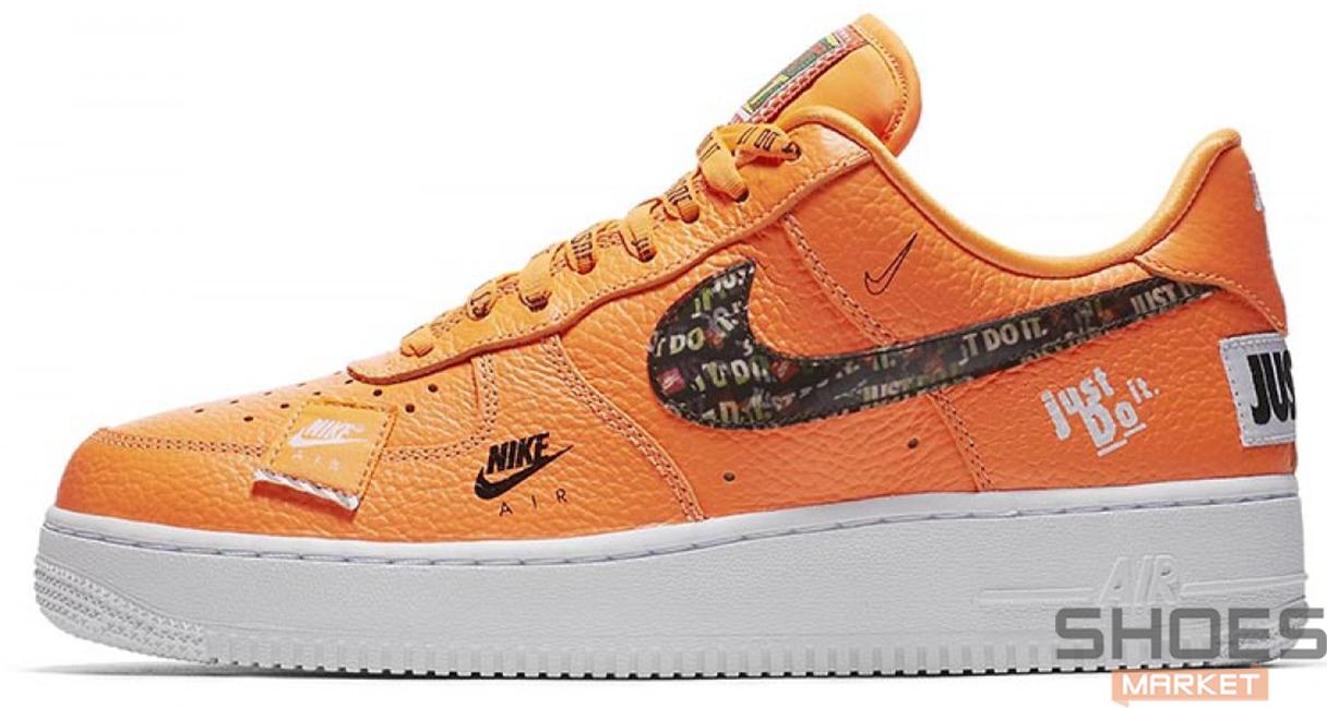 Мужские кроссовки Nike Air Force 1 07 Just Do It Pack Orange AR7719-800, Найк Аир Форс