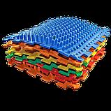Массажный  коврик  Пазлы Микс Ежик 1 элемент, фото 3