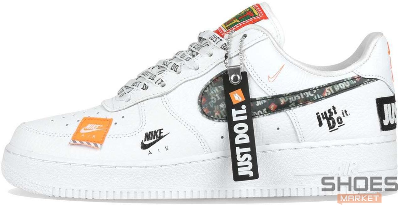 Женские кроссовки Nike Air Force 1 07 Just Do It Pack White AR7719-100, Найк Аир Форс